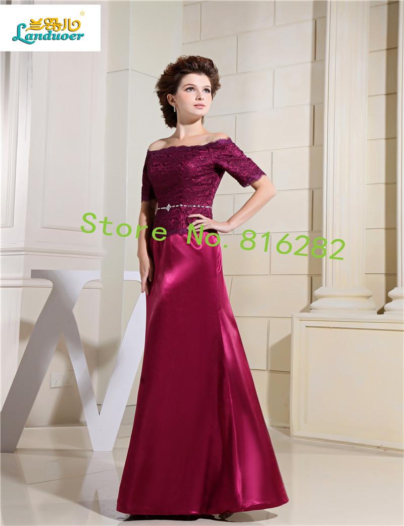 a455b6dd55d1 Saclloped cuello madre de los vestidos de novia bordado longitud del ...