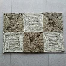 90x60cm Handmade Stitch Straw Carpet Braided Area Rug Corn Bran Mat Living Room Floor Rugs