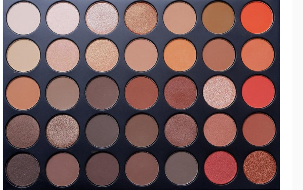 35 Colors Eyeshadow Palette 35OS Shimmer 35O Matte 35M Naked Nude Silk Smooth Smoke Makeup Set