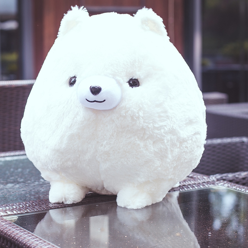 1pc 30cm Cute Simulation Dog Plush Toy Soft Stuffed Animal Pomeranian Toy Lovely Animal Doll for Kids Children & Girls Gift 45cm cute dog plush toy stuffed cute husky dog toy kids doll kawaii animal gift home decoration creative children birthday gift
