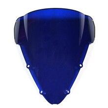 ABS двойное стекло цвет: черный, синий белый лобовое стекло для Honda CBR600 F4i 01 02 03 04 05 06 07 2001 2002 2006 2007 лобового стекла автомобиля