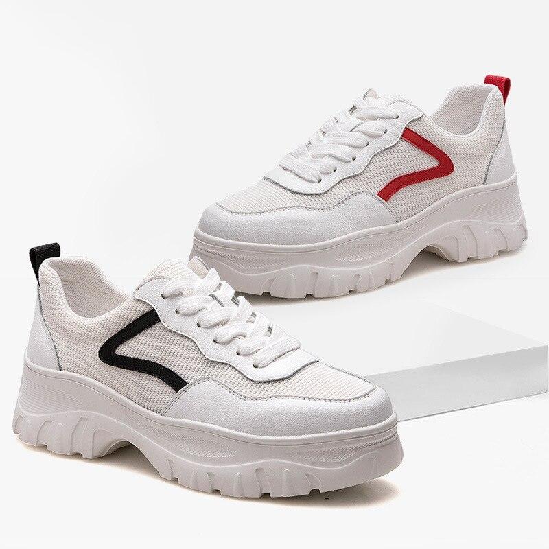 À forme La Des Chaussures Mode Joker 1 Mesh 2 Nouveau Blanches 2019 Respirant Femmes Cuir Loisir Plate En De q5ZYXnaw