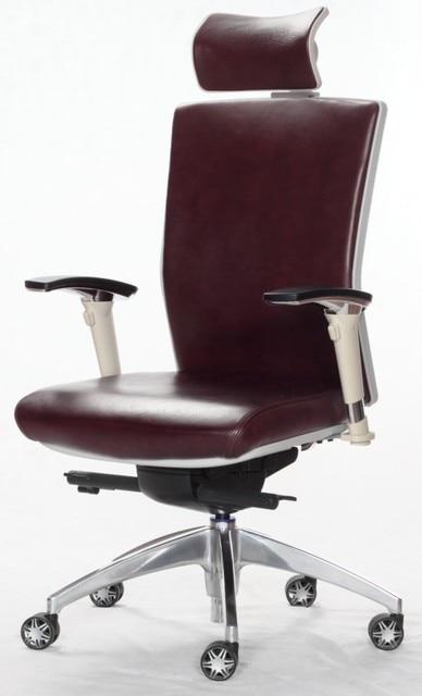 Ergonomic Leather Executive Chair,brown,ANSI/BIFMA,full Function Item No: