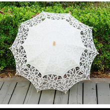 2019 Spring Fashion Lace Sun Umbrella For Bride White Ivory Wedding Umbrella Vintage Wedding Parasol Bridal Accessories WU005