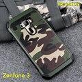 Caso para asus zenfone 3 ze552kl 2 in1 padrão de camuflagem do exército do camo pc + tpu armadura anti-knock capa protetora para ze520kl