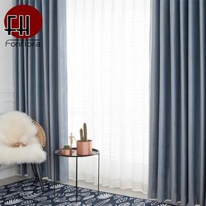 Image 2 - אירופה קטיפה Blackout וילונות לסלון חדר שינה כחול סגול מוצק וילונות חלון טיפול לילדים חדר מותאם אישית גודל