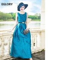 Синий длинное платье макси платья Для женщин Новинка; модный стиль Вечеринка осень зима Дамы Королевский синий Vestidos De Longo Festa 2018