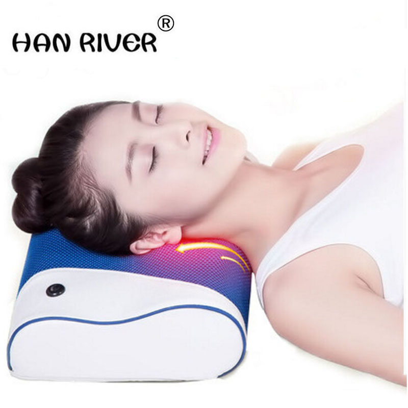 Household electric kneading and hot compress neck massager neck pillow the small of the back cushion for leaning onHousehold electric kneading and hot compress neck massager neck pillow the small of the back cushion for leaning on