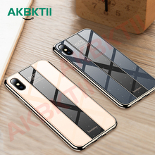 AKBKTII HD Painted Plexiglass Cover coque For iPhone 6 6S 7 8 Plus Case X XR XS MAX case Porsche Glass shell housing