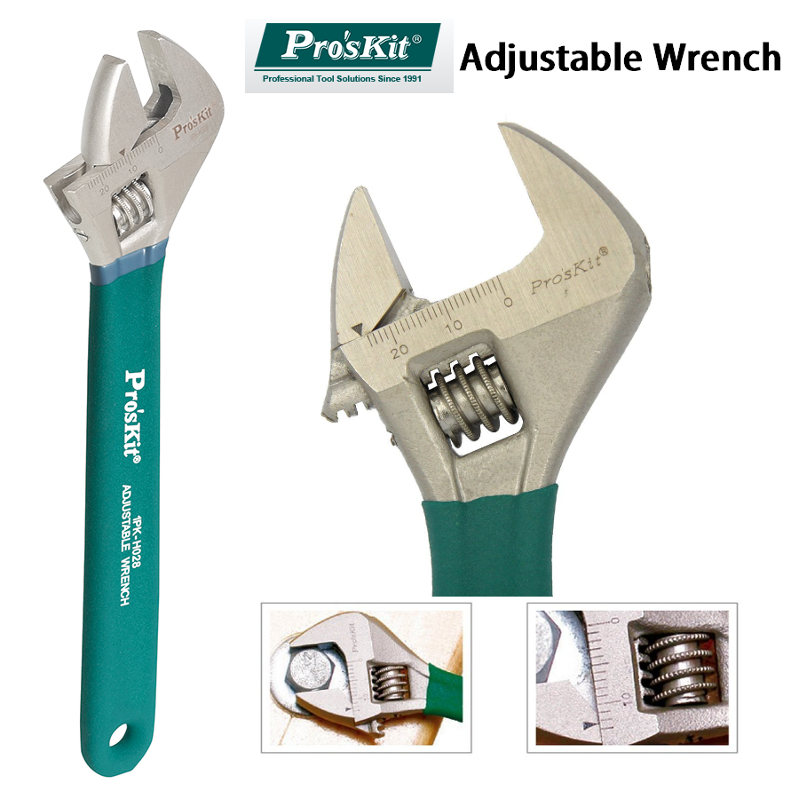 Pro'skit Adjustable Wrench Universal Spanner  Anti-slip Precision Insulated Titanium Alloy Adjustable Wrench