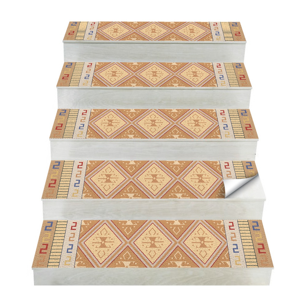 Hot Arabian Style Tile Stickers 4 Pc Set Free Glue Stair Stickers Tiles Stickers Bathroom & Kitchen Tile Decals Easy To A-in Wall Stickers from Home & Garden
