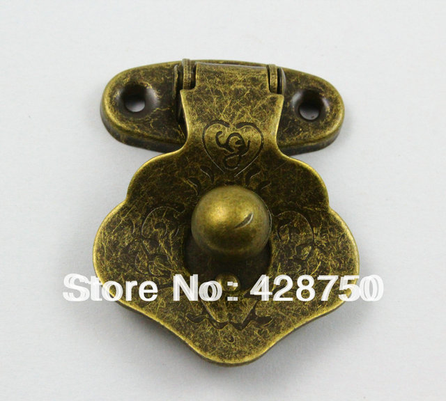 Antique Brass Jewelry Box Hasp Latch Lock 33x43mm with Screwsin