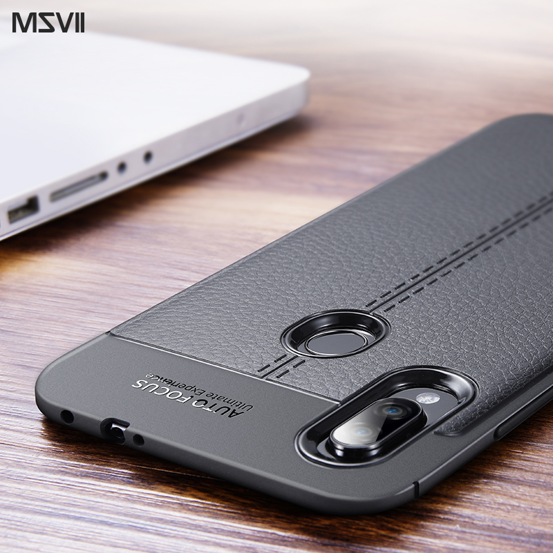 Msvii Case for Redmi Note 7 Case Silicone for Xiaomi Redmi Note 7 Pro Case Leather Global Version Cover 360 Funda Coque Capa luces led de policía