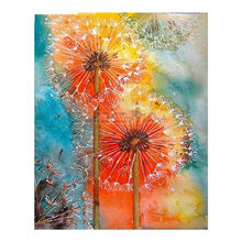 NEW  5D DIY Diamond Embroidery Beautiful Colored Dandelion Painting Cross Stitch Square Drill Mosaic Decoration