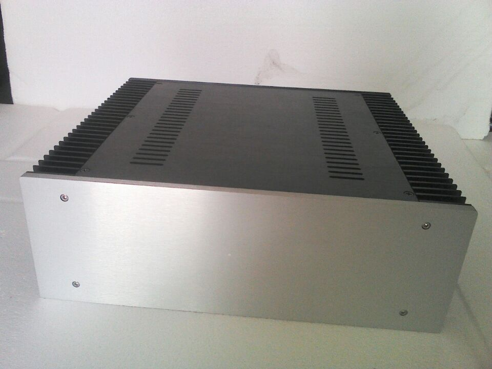 C-037 CNC All Aluminum Chassis Case Box Cabinet for DIY Audio Power Amplifier 350mm*120mm*311mm 350*120*311mm d 073 queenway 2612 blank cnc full aluminum small class a amplifier audio box amp case 260mm 120mm 311mm 260 120 311mm