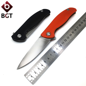 Image 1 - BGT 111 Folding Pocket Knife Combat Survival Tactical Outdoor Knives Hunting Camping EDC Tools D2 Blade G10 Handle Ball Bearing