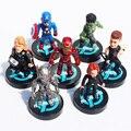Мстители 2 цифры игрушки куклы Age of Ultron черная вдова HawkEye Капитан Америка Тор халк Железный человек Видения Фигурку