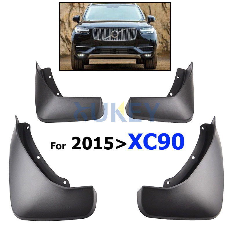 OEM Fitment Front Rear Molded Car Mud Flaps For VOLVO XC90 2015 2016 2017 2018 Mudflaps