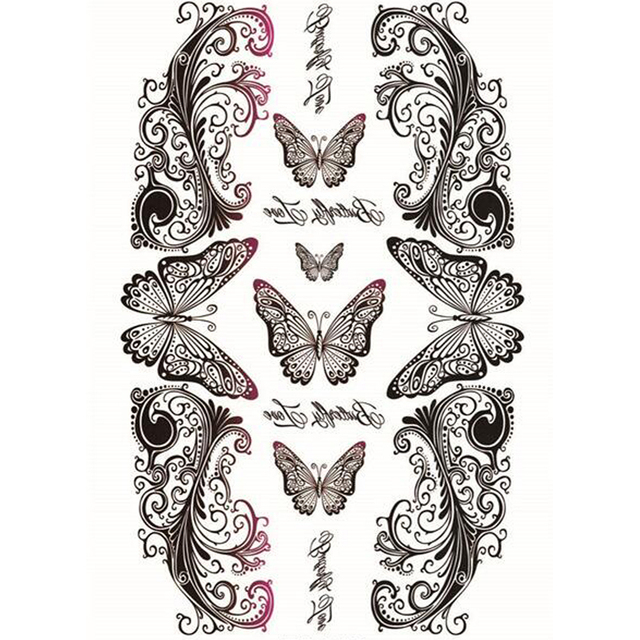 e41b2d51b Yeeech Temporary Tattoos Sticker for Women Fake Reborn Butterfly Love Sexy  Design for Cesarean Belly Scar Decals Body Art