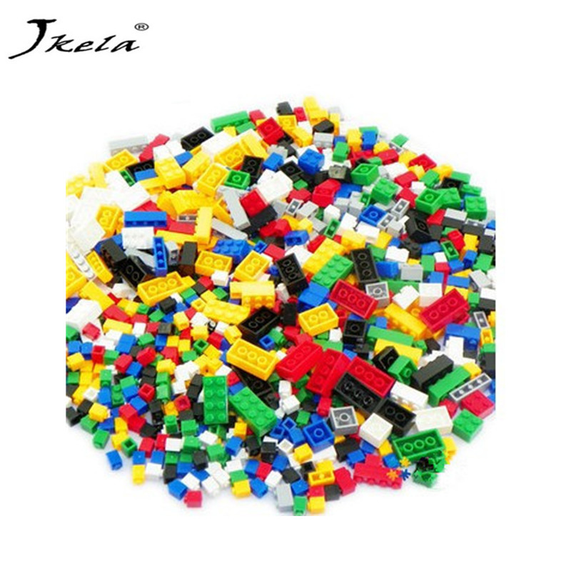 [Jkela] 1000Pcs DIY City Creative Building Blocks Bricks Educational toys Compatible Legoingly Douple Bricks For Children Gifts 1000pcs bulk bricks educational children toy compatible with major brand blocks 10 colors diy building blocks creative bricks