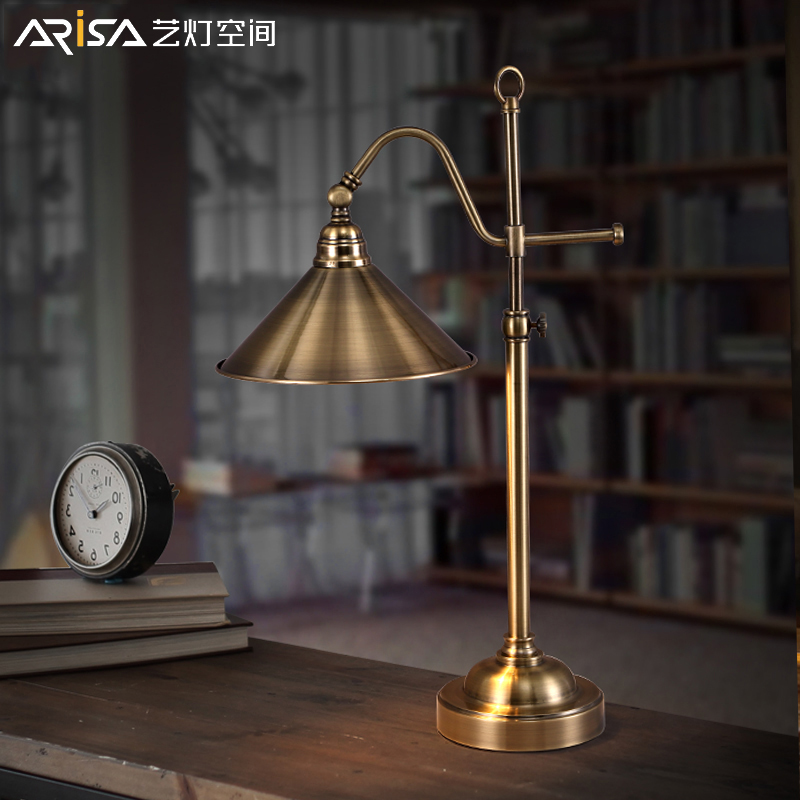 LED Nordic Desk lamps modern lighting bedroom Iron retro Fixtures bedside study lights Novelty table lamps