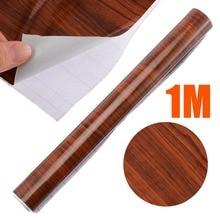 цена на For Car Interior DIY 1pc 100 x 30cm High Glossy Wood Grain Vinyl Sticker Waterproof Textured Auto Car Decal Wrap Film
