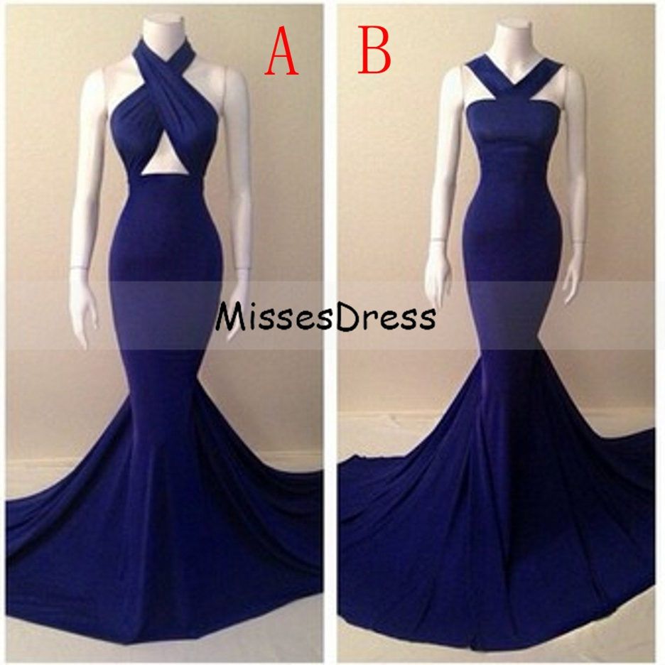 Aliexpress.com : Buy Long Mermaid Prom Dress 2017 Halter ...