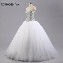 Sophoeniya White Ivory Ball gown Wedding dresses gowns