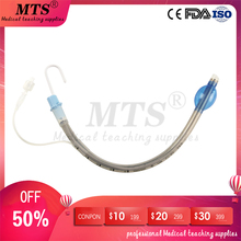 Medical Silicone Endotracheal intubation Disposable Endotracheal Airway Tube with Cuff for artificial airway establishment 10pcs bix j51 electronic airway intubation model with alarm device u s a package mail w007