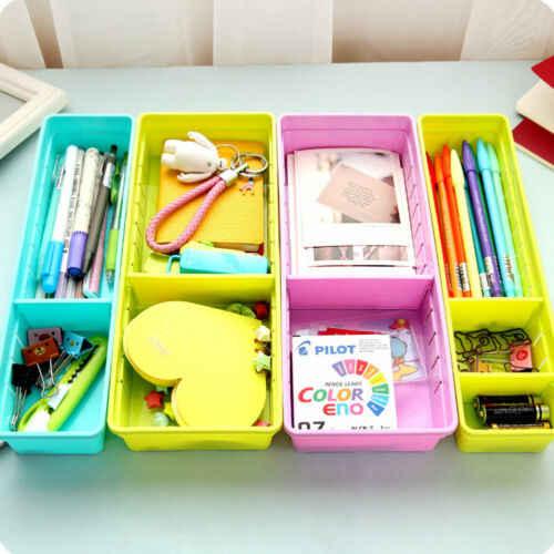 2019 Hot Penjualan Laci Organizer Dapur Rumah Papan Pembagi Makeup Penyimpanan Kotak Pu Meja Mengatur