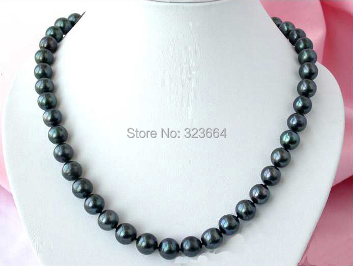 20 12MM ROUND BLACK FRESHWATER PEARL NECKLACE MABE20 12MM ROUND BLACK FRESHWATER PEARL NECKLACE MABE
