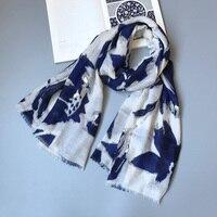 IANUS Women Soft Scarf Large Soft Color Gentlewomen Cool Shawl New Taste Leaves Print Design 3008