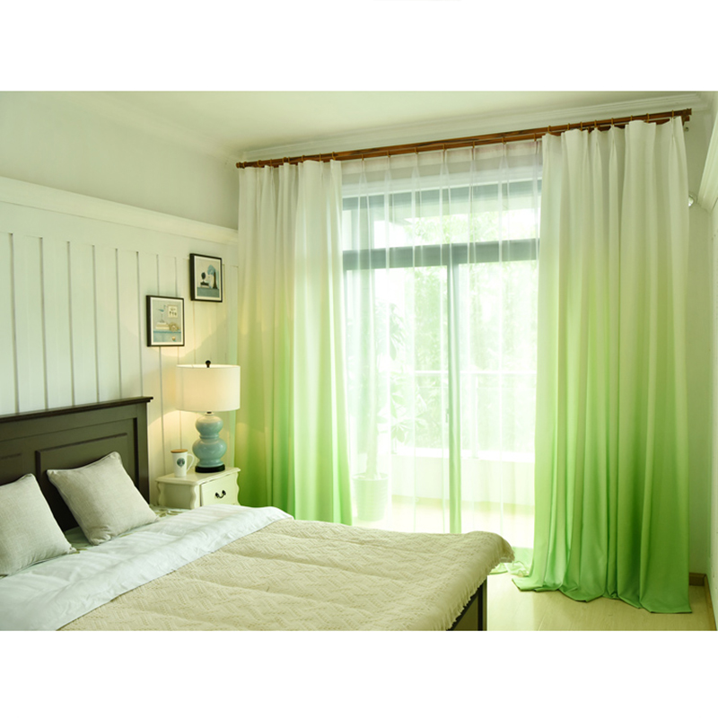 Gradient color romantic curtain for living room bedroom blue green purple tulle curtains for - Cortinas de dormitorios ...