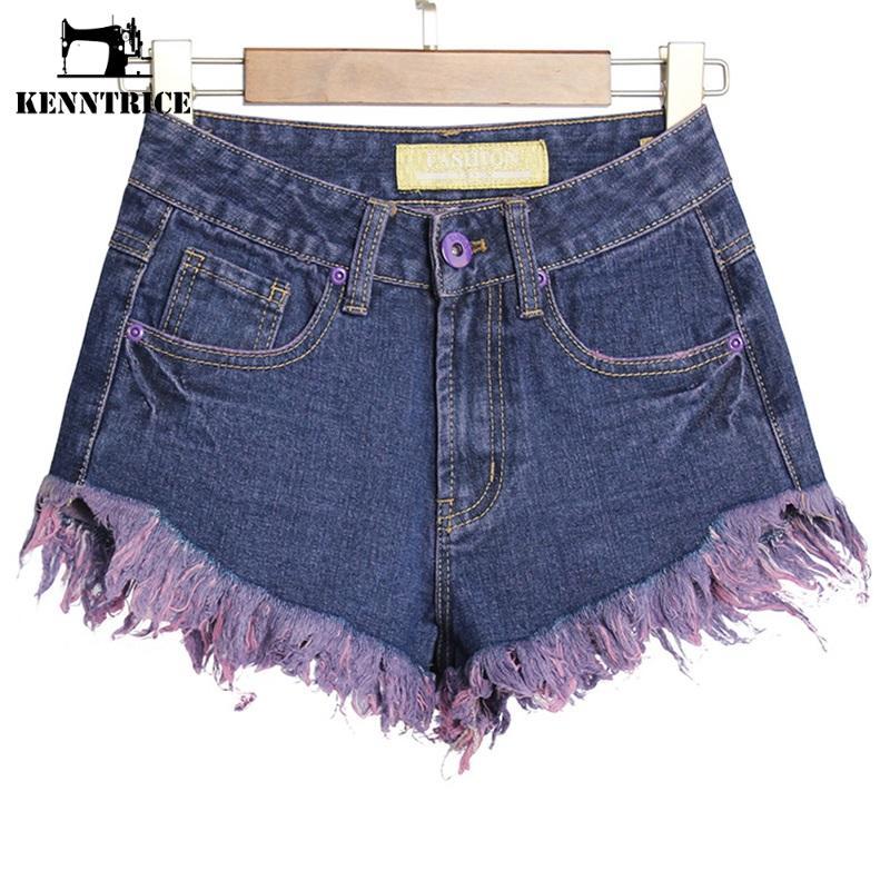 Popular Purple Jean Shorts-Buy Cheap Purple Jean Shorts lots from ...