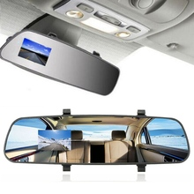 2.7 Inch LCD DVR Car Camera Dash Cam Digital  Video Recorder Rearview Mirror 5V 1A Auto Video