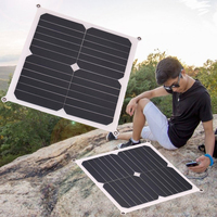 13W 6V 2A protable Solar Panel Power bank Supply Solar cell Outdoor Camping Travelling Power Battery Charger 28 * 28 * 0.2cm