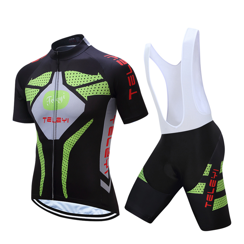 Mens TELEYI Short Sleeve Cycling Jersey Kits 2018 Racing Bike Clothing Mtb Mallot Uniform Bicycle Equipment Clothes Sets Wear