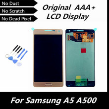 100% Original LCD for Samsung Galaxy A5 A500 A5000 LCD Display Touch Screen with Digitizer Assembly Gold Color Replacement Parts