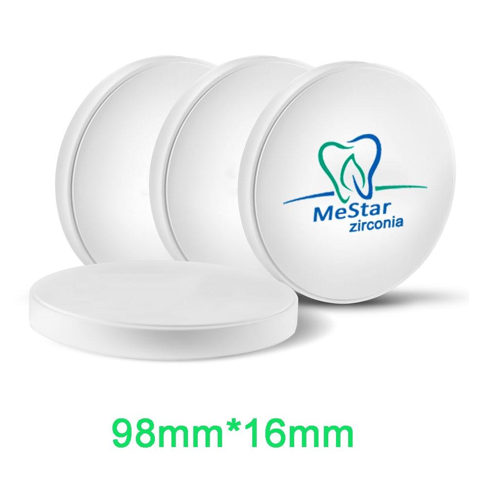 Размеры 98 мм * 16 мм CADCAM циркония блок супер полупрозрачные для зуботехнической лаборатории Comptible с открытым Системы