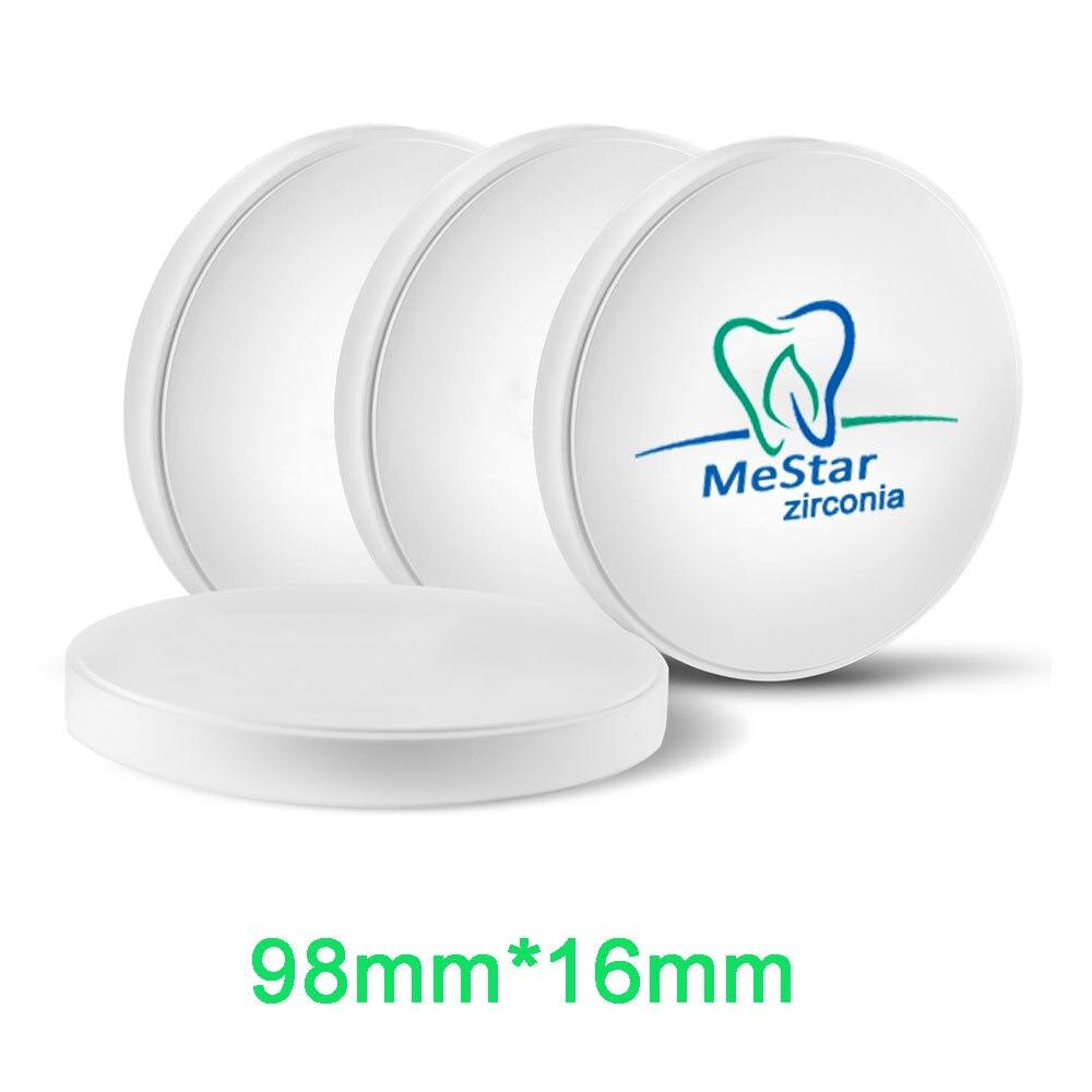 Bloc de zircone CADCAM de taille 98mm * 16mm Super translucide pour laboratoire dentaire compatible avec système ouvert