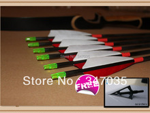 Free shipping ELONG quality carbon arrow real turkey feather 12 pcs 30″ spine 400 archery bow hunting shooting outdoor sport