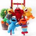 Большая Птица Улица сезам Elmo Cookie Monster Берт Erine 13 см Плюшевые Игрушки Мультфильм Мягкие игрушки Куклы Кулон Дети подарок
