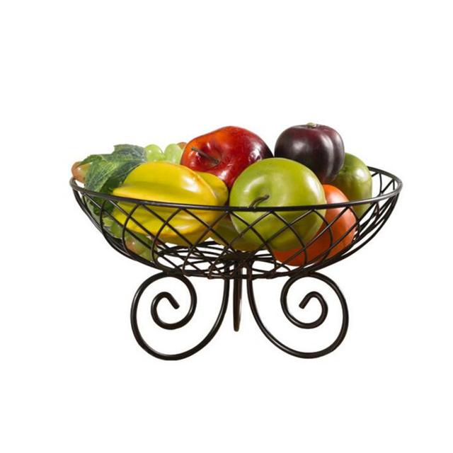 Metal Grid Shaped Fruit Tray