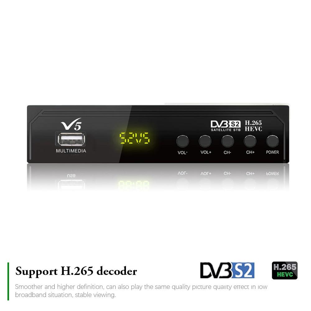 Free Satellite Receiver H.265 DVB-S2 Digital Tv Set-top Box Dish Finder Internet Youtube Biss Vu Decoder Cs Receptor Wifi RJ45