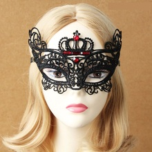 Ball diamond princess lace mask face plolicy beauty cosply accessories