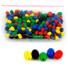 Anmuka 100pcs mixed color fishing float spece beans Anti-collision fishing gear accessories sea fishing plastic sinker 41003-100