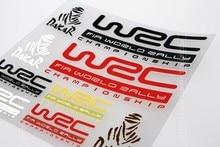 12x12cm WRC FIA World Rally DAKAR Badge Multicolors Sticker Set Refitting Car Styling Decals DIY Window Exterior Interior Decor
