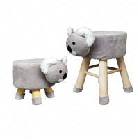 Cartoon Zodiac Animal Stool Wood Plush Creative Sand Stool Soft Cloth Home Change Shoe Stool Baby Child Stool Cute Dotomy
