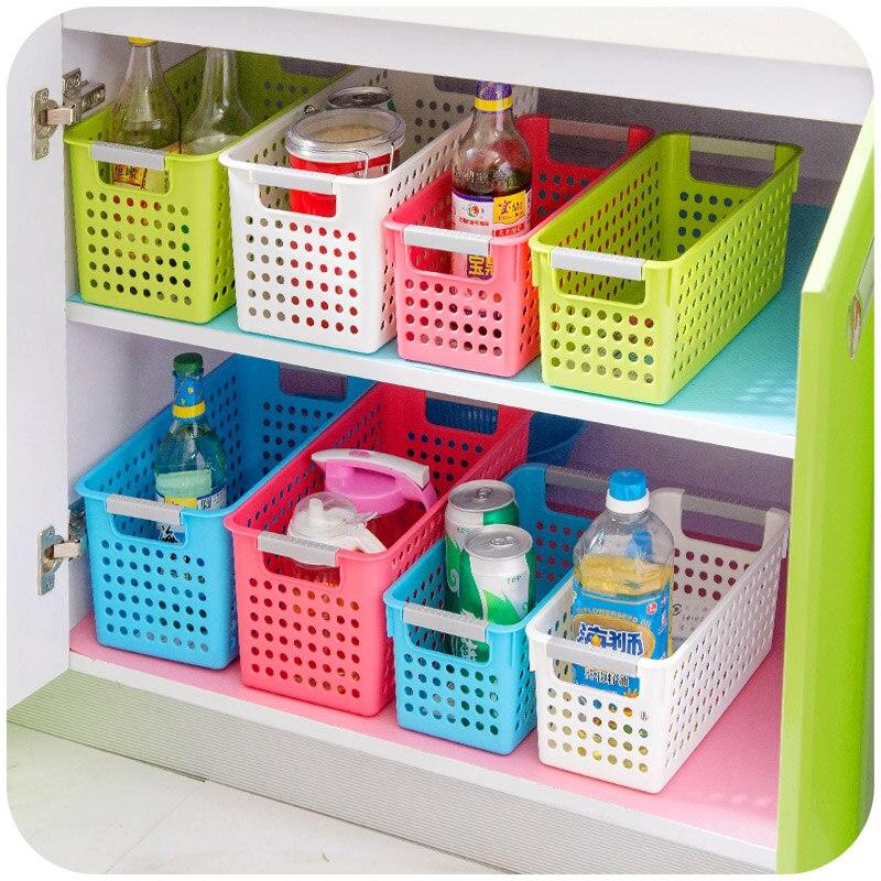 multi couleur paississement rectangle en plastique panier de rangement salle de bains panier de. Black Bedroom Furniture Sets. Home Design Ideas