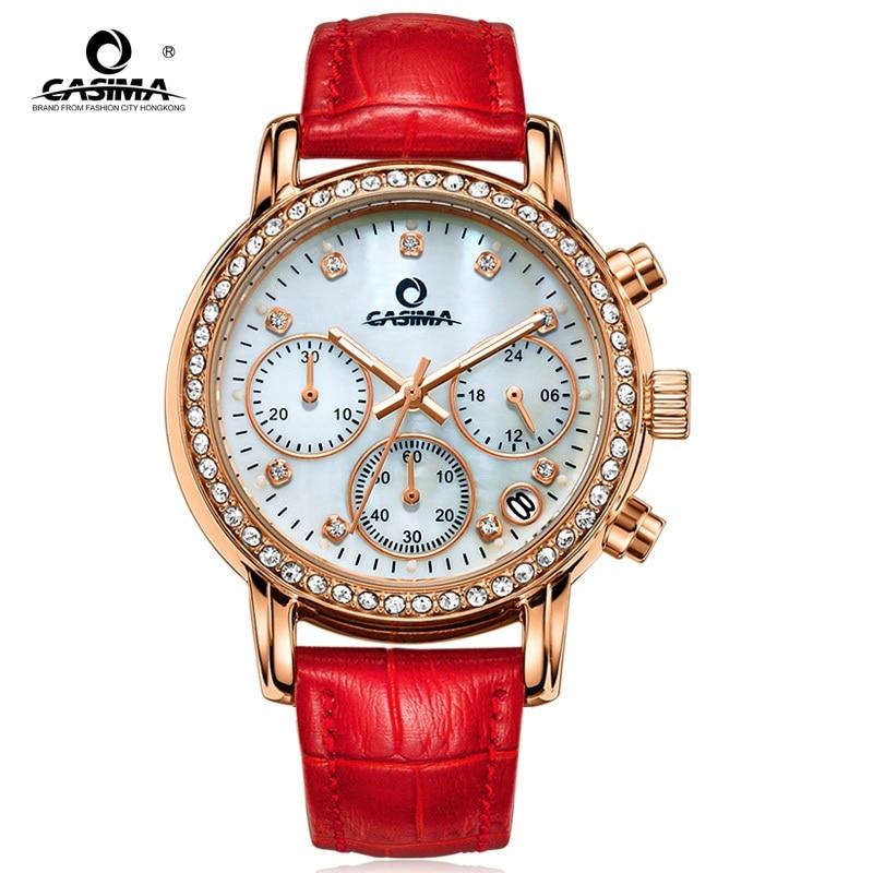 все цены на CASIMA Luxury Brand women watches Fashion Cusual elegance leather strap SPORT women quartz wrist watch WATERPROOF 50m онлайн